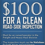 Banner to promote clean inspections
