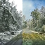 Ice storm, 2014. These images were taken about an hour apart. Quite dramatic.
